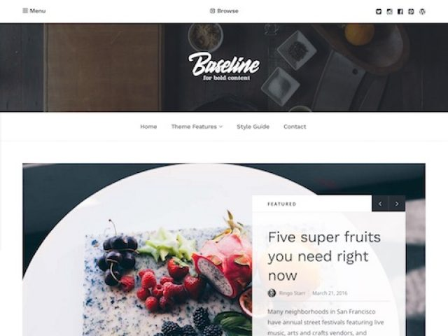 Baseline – Magazine WordPress Theme