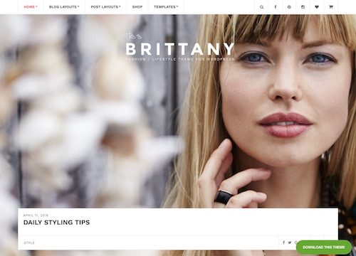 Brittany Blog WordPress Theme