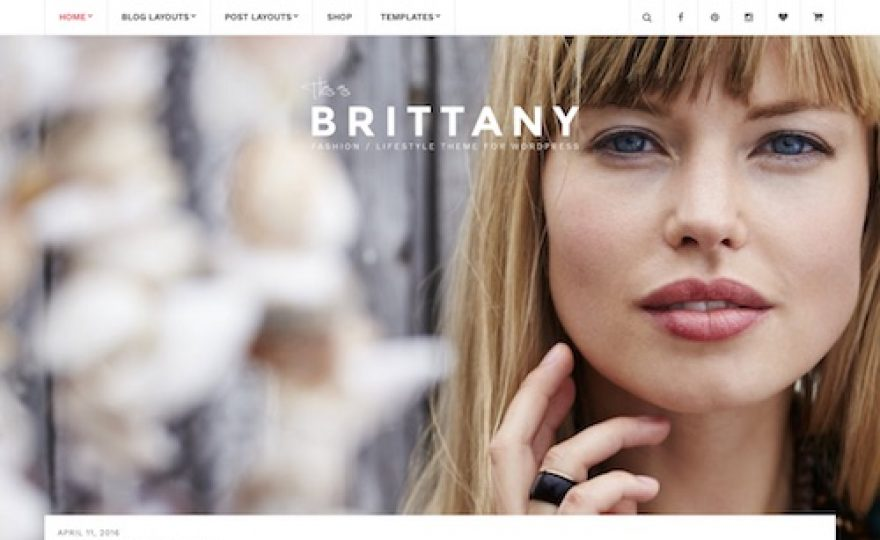 Brittany Blog WordPress Theme