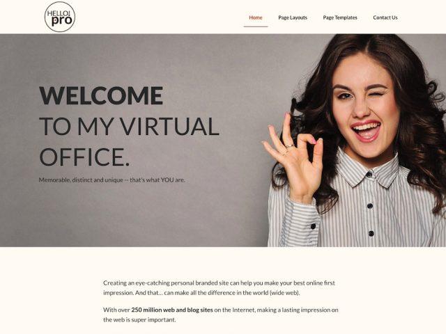 Hello Pro: Personal Branding WordPress Theme