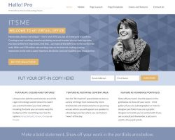 Hello Pro: A WordPress Theme for Personal Branding