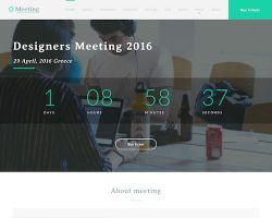 Meeting: Event WordPress Theme