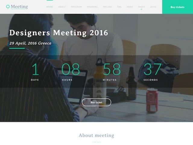 Meeting – Event WordPress Theme