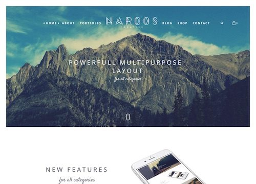 Narcos: One Page Multipurpose WordPress Theme