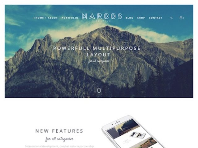 Narcos: One Page Multipurpose WordPress Theme