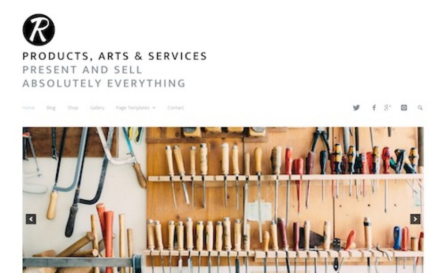 Products, Arts & Services WordPress Theme