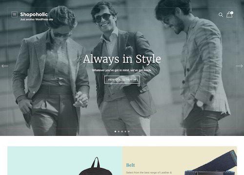 Shopoholic Ecommerce WordPress Theme