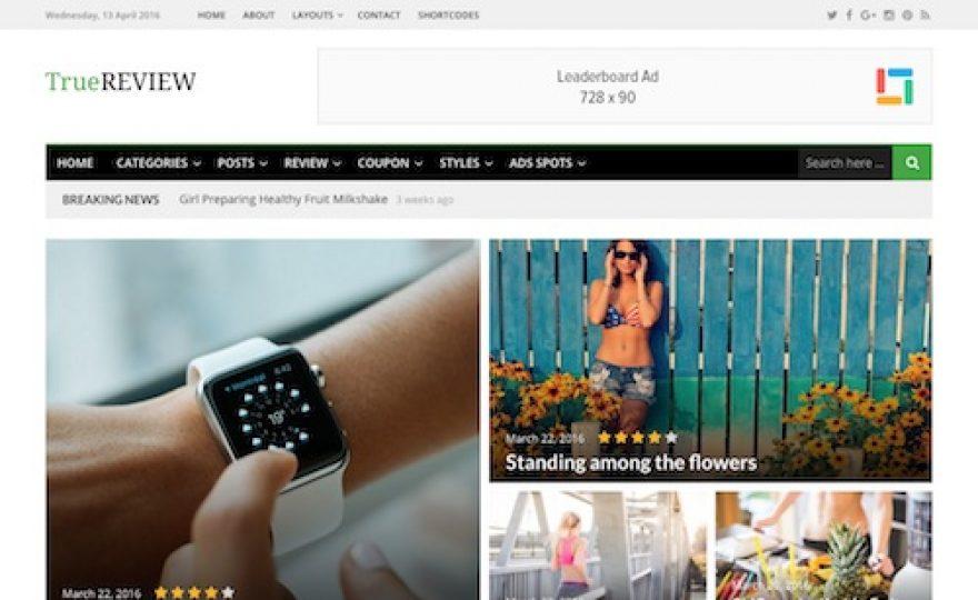 True Review Magazine WordPress Theme