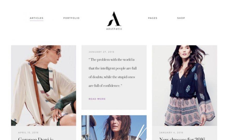 Aesthetic WordPress Theme