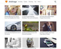 Arbitrage: A WordPress Theme for Maximum Page Views & Ad Clicks