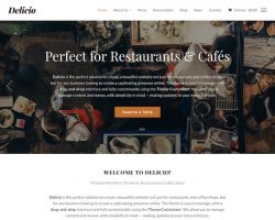 Delicio: Restaurant & Cafe WordPress Theme