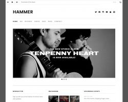 Hammer: Music WordPress Theme