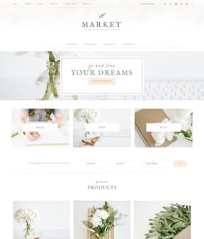 wordpress subcategory template - 90 beautiful feminine wordpress themes for women 2018