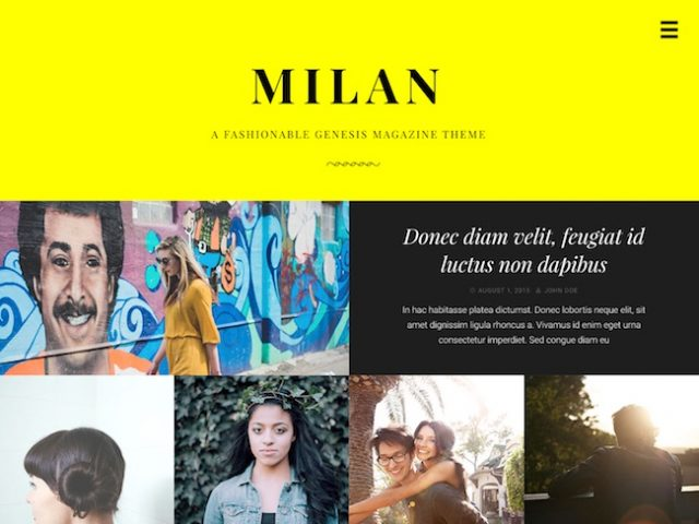 Milan Pro: Magazine WordPress Theme