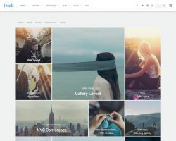 Peak – A Multipurpose Grid Based WordPress Theme