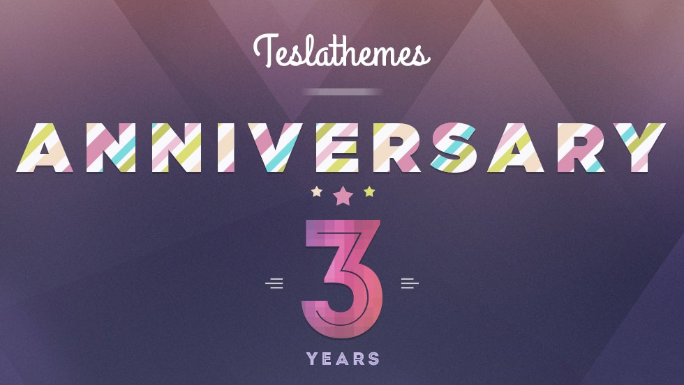 Tesla themes 3rd anniversary sale 50% off discount coupon