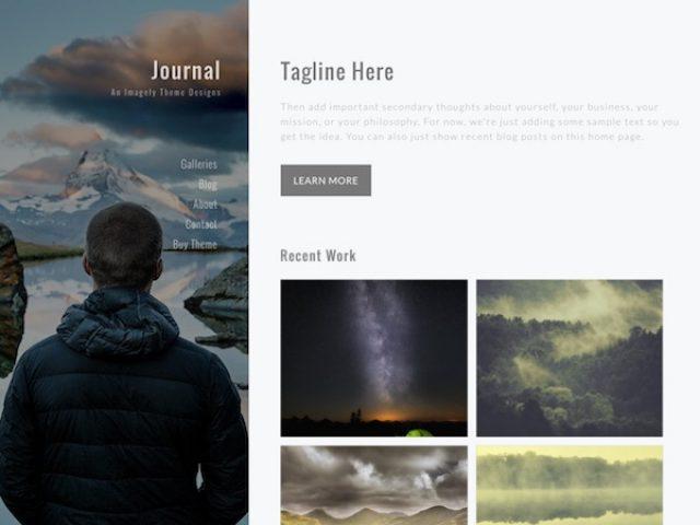 Journal Photography WordPress Theme
