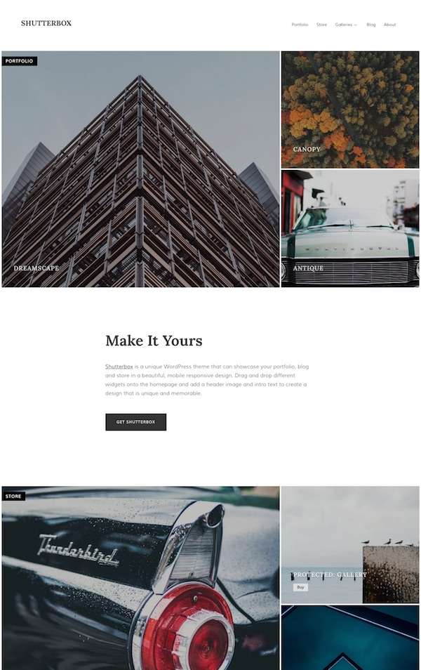 shutterbox photography wordpress theme