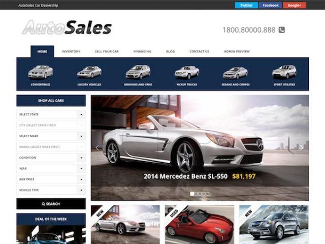 Auto Sales WordPress Theme