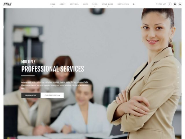 Away Corporate WordPress Theme