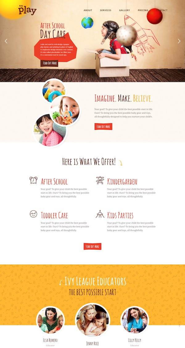 20 Best Kids Children Wordpress Themes 2018