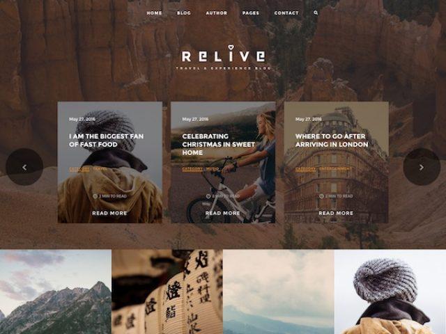 Relive Storytelling WordPress Theme