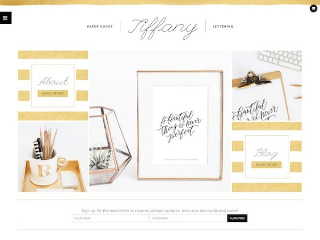 Tiffany WordPress Theme