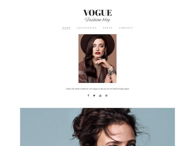 Vogue Blog WordPress Theme