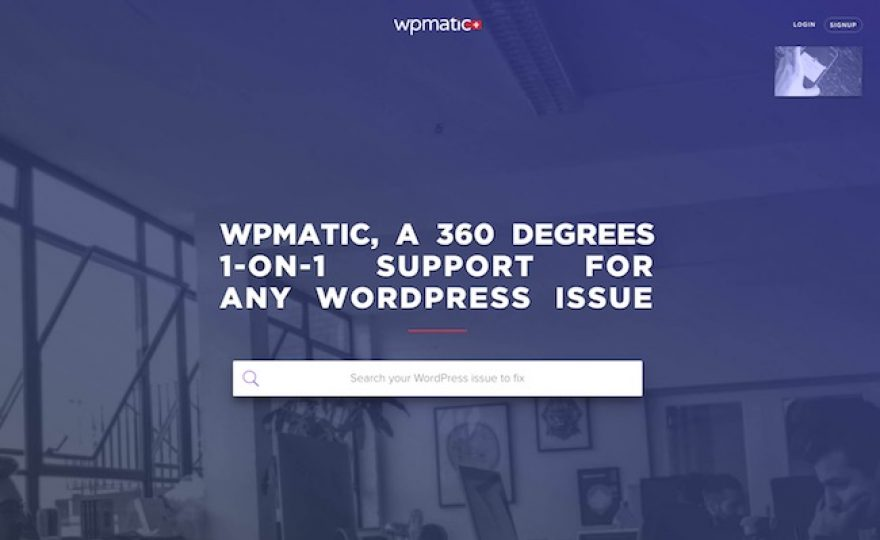 Get Premium 1-on-1 WordPress Support at WPmatic