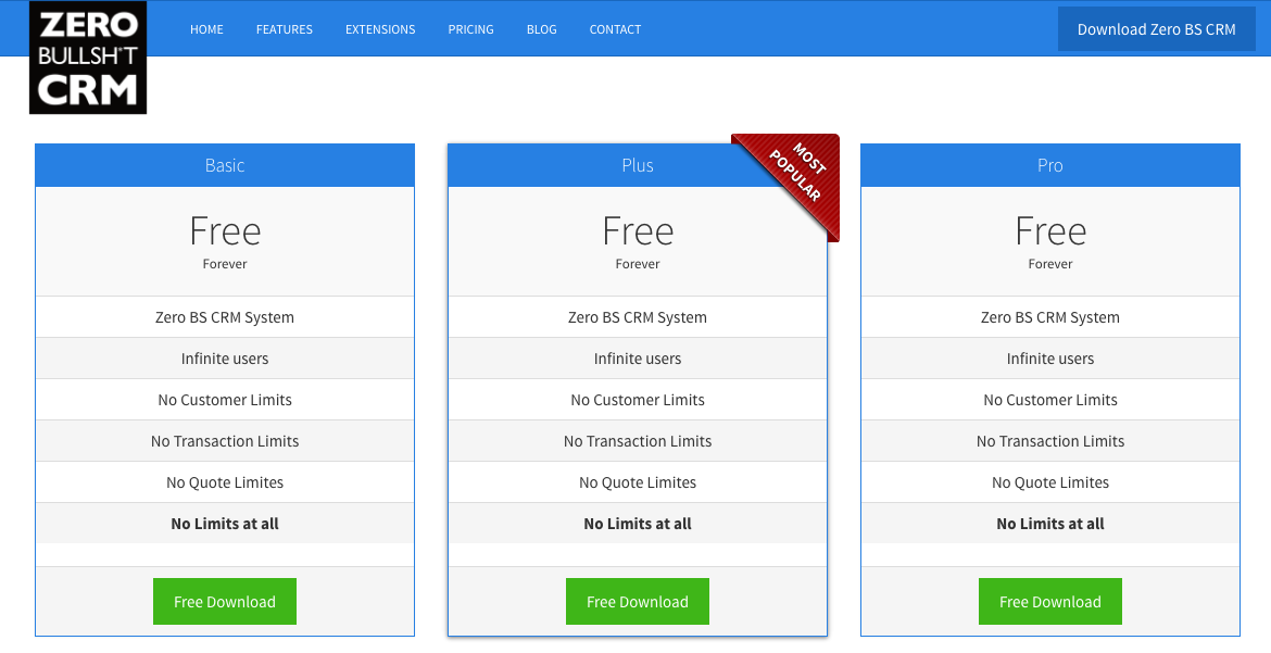 zero-bs-crm-pricing