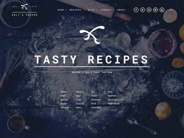 Salt & Pepper Food WordPress Theme