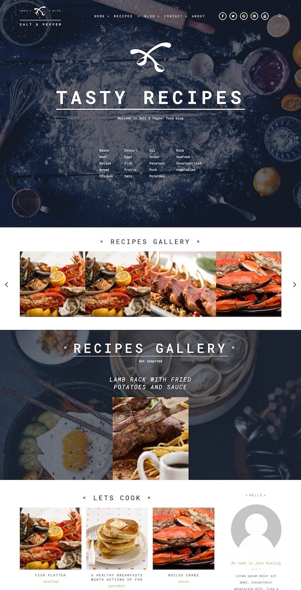 20 best food wordpress themes for recipe websites 2018 chefs and other food lovers it includes a handy recipe filter ingredients list and cook methods plus a heap of other great features and options forumfinder Gallery