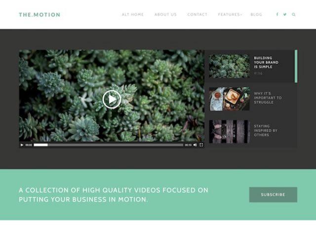 The Motion Multimedia WordPress Theme