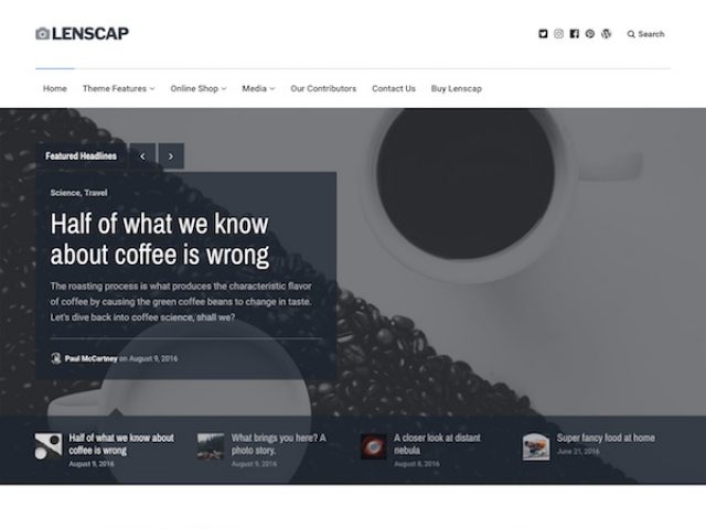 Lenscap Magazine WordPress Theme
