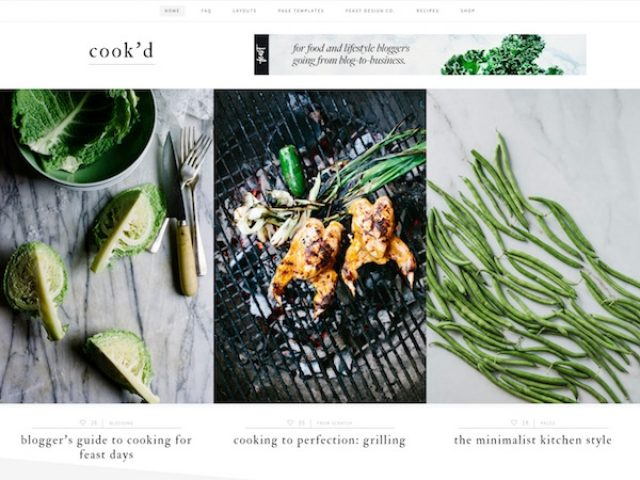 Cook'd Pro Food WordPress Theme