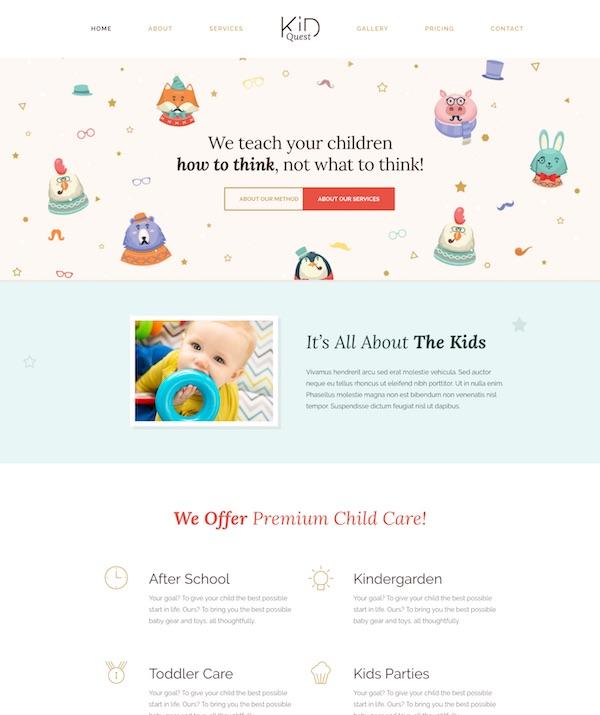 20 Best Kids Children Wordpress Themes 2019