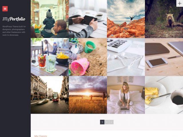 myPortfolio WordPress Theme