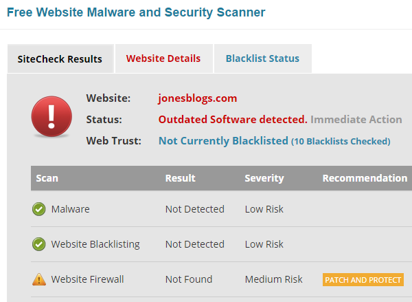 Safe Site Checker >> How To Check If Your Wordpress Site Is Secure And Keep It Safe
