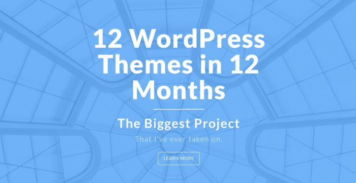 The 12 WordPress Themes in 12 Months Challenge