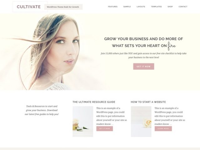 Cultivate WordPress Theme