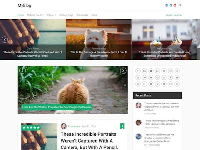 MyBlog WordPress Theme