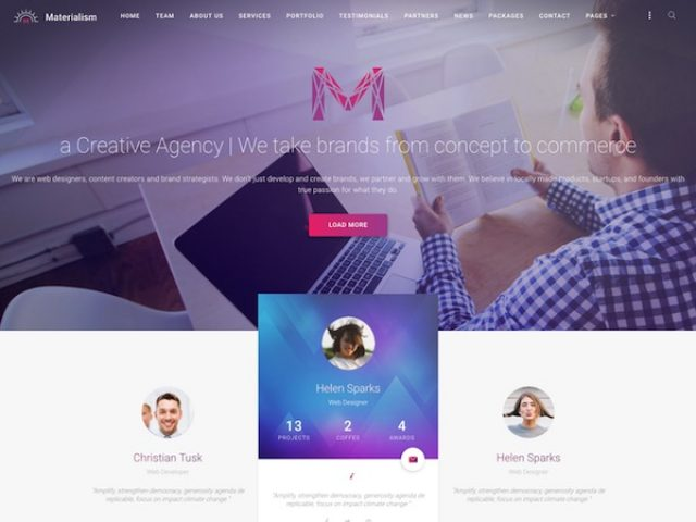 Materialism WordPress Theme