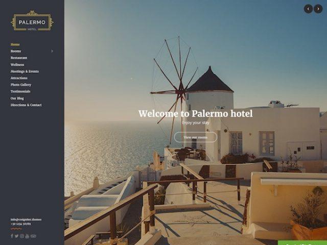 Palmero WordPress Hotel Theme