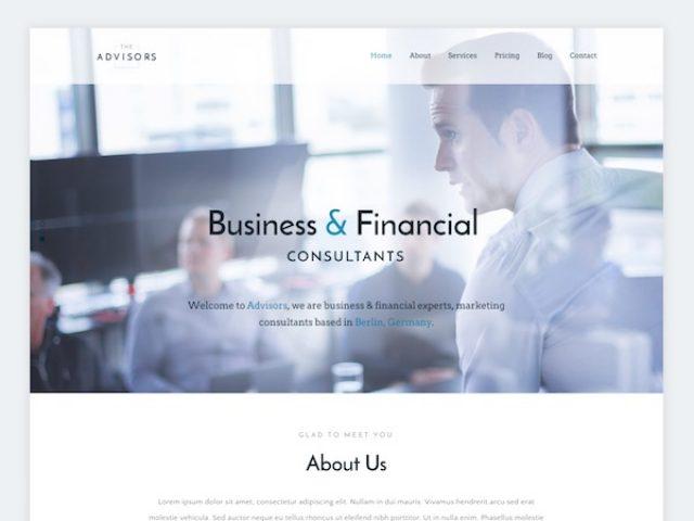 The Advisors Corporate WordPress Theme