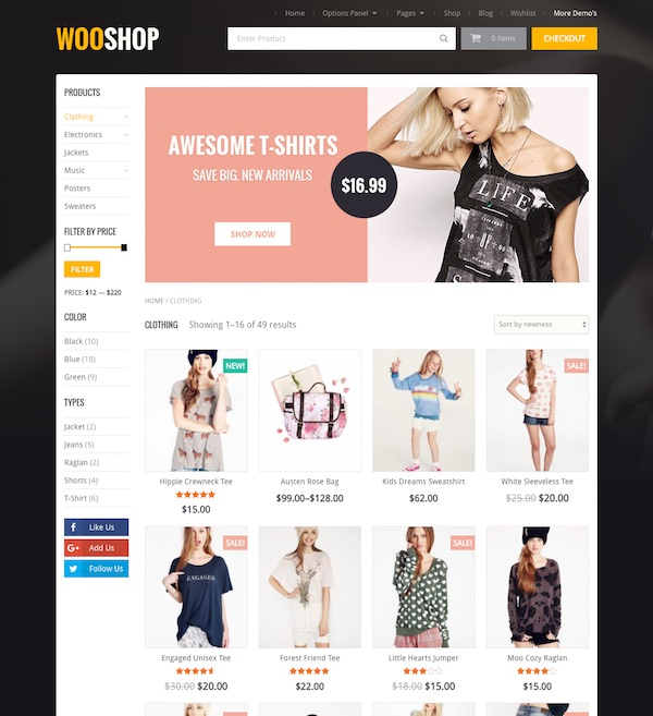 WooShop is a modern and stylish WooCommerce WordPress theme from MyThemeShop  It has a beautiful and professional design and comes packed with customization     PremiumWP
