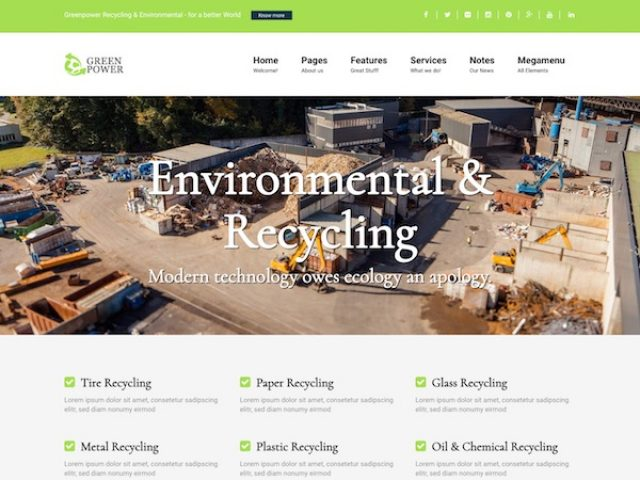 Greenpower Business WordPress Theme