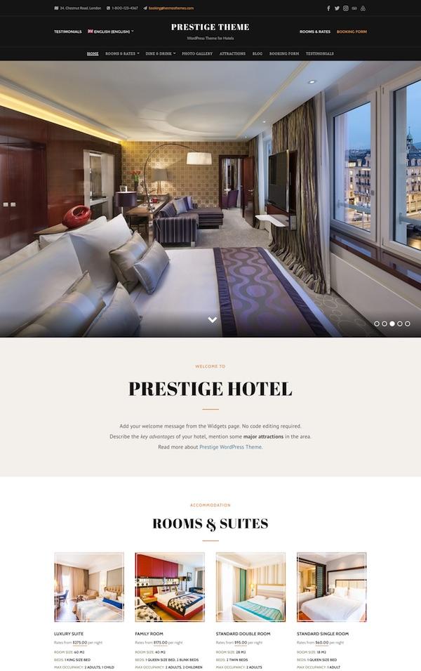 30+ Best Hotel WordPress Themes 2019