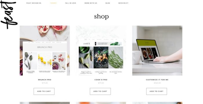 Build a Fabulous Food Blog With These Beautiful WordPress Themes from Feast Design Co.