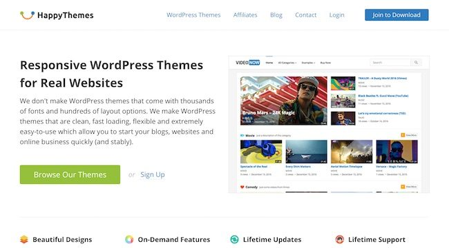 A New WordPress Theme Shop: HappyThemes
