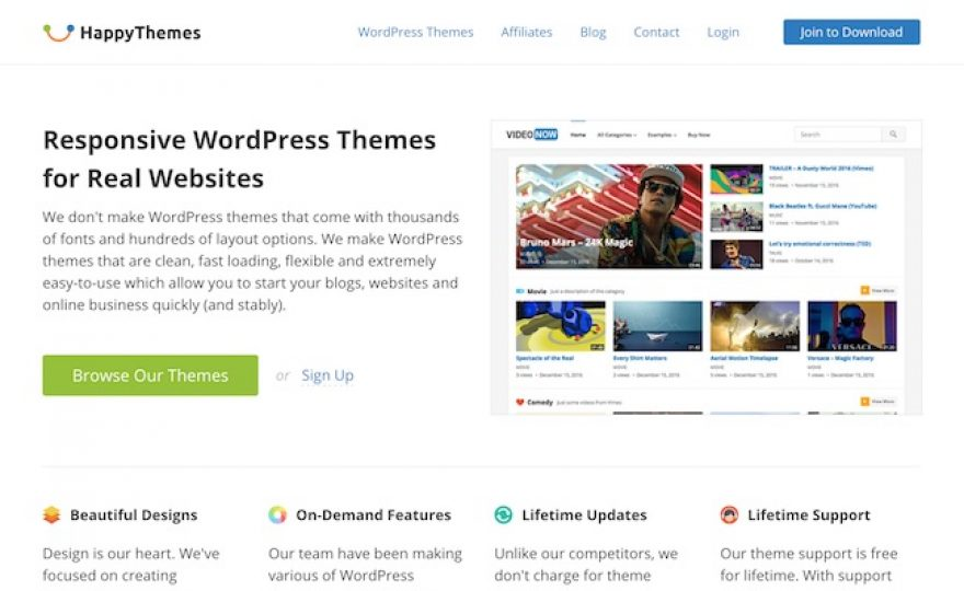 HappyThemes WordPress Theme Shop Review